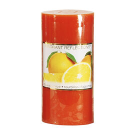 Fragrant Reflections Pillar Candle - Citrus Squeeze - 6inch