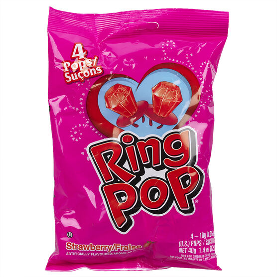 Ring Pop - Strawberry - 4's