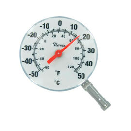 Bios Indoor/Outdoor Dial Thermometer - White - 6inch