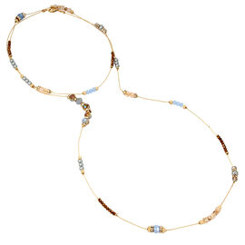 Haskell Two Row Necklace - Gold