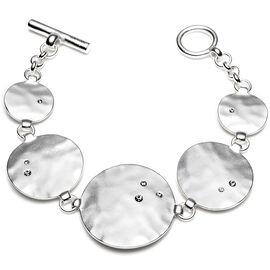 Kenneth Cole Hammered Disc Bracelet - Silver Tone