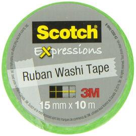 3M Scotch Expressions Ruban Washi Tape - Green/White Swiss Dot
