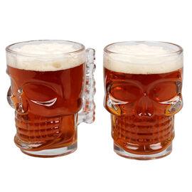 Skull Beer Mug - 550ml - 2 pack