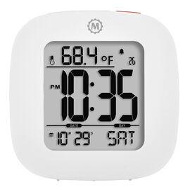 Marathon Compact Alarm Clock - White - CL030058WH