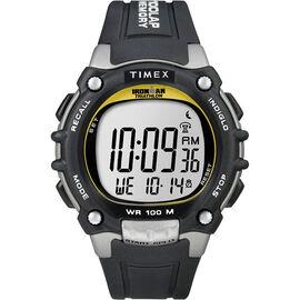 Timex Ironman Triathlon 100 Lap Watch with FLIX  - Black/Silver - 5E231