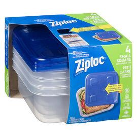Ziploc Square Containers - Small - 4's