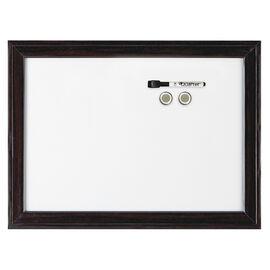Quartet Dry Erase Board - Espresso - 17x23 inches