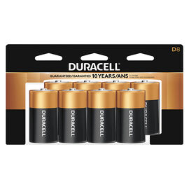 Duracell CopperTop D Alkaline Batteries - 8 pack