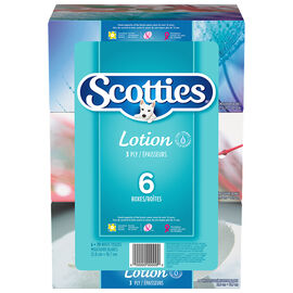 Scotties Lotion Facial Tissues - 6 x 70's