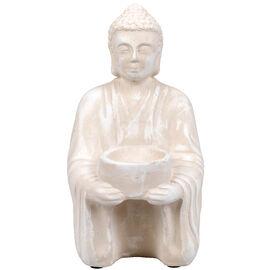 London Drugs Indoor Earthenware Buddha Tealight Holder - Bone