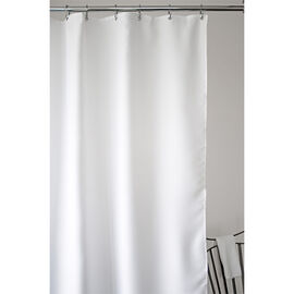 Splash Weave Solid Fabric Shower Curtain - White