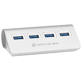Certified Data 4-Port Aluminum 3.0 Hub - Silver - HYD-9025