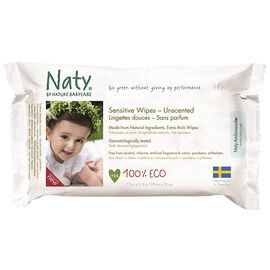 Nature Babycare Sensitive Wipes - Unscented - 56's