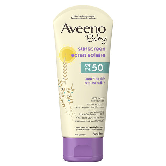 Aveeno baby sensitive skin sunscreen