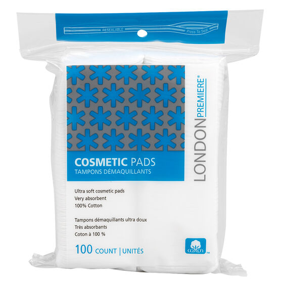 London Premiere Cosmetic Pads - Square - 100's