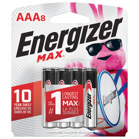Energizer Max AAA Batteries - 8 pack