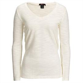 Lava SLUB V-Neck Sweater - Off White