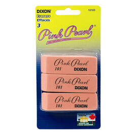 Dixon Pink Pearl Erasers - 3 pack