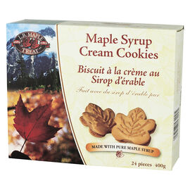 L.B. Maple Treat Maple Syrup Cream Cookies - 400g