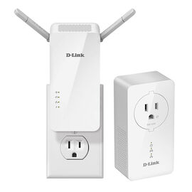 D-Link PowerLine AV2 1000 Wireless AC1200 Starter Kit - White - DHP-W611AV