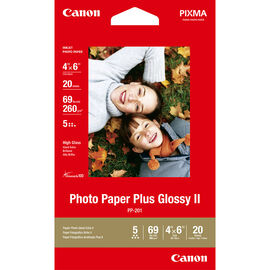 Canon PP-201 Photo Paper Plus Glossy 2 - 4 x 6 inch - 20 sheets - 2311B033