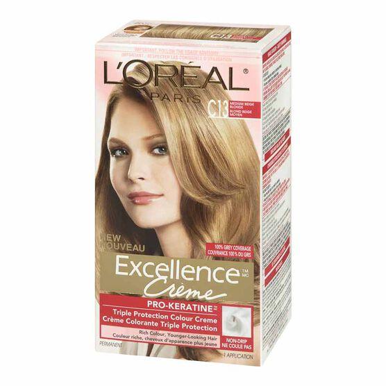 L Oreal Excellence Creme C13 Medium Beige Blonde