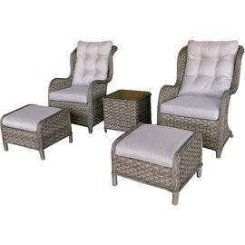 Diane Rattan Chat Set - Natural - 5 piece
