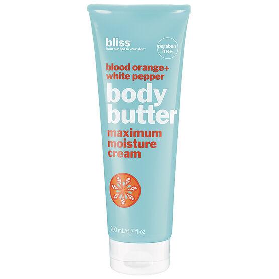Bliss Blood Orange + White Pepper Body Butter Maximum Moisture Cream - 200ml