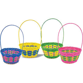 Easter Round Basket - 8in - Assorted