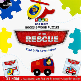 Play and Learn Books & Wood Puzzles - To The Rescue