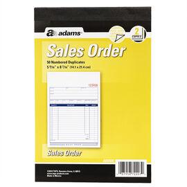 Adams Sales Order Book - 2 Part - 50's