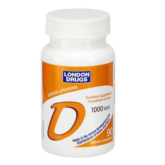London Drugs Vitamin D 1000iu - 90's