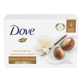 Dove Purely Pampering Shea Butter with Warm Vanilla Scent Beauty Bar - 4 x 90g