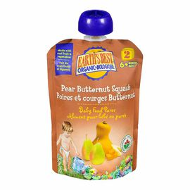 Earth's Best Infant Puree Pouch - Pear and Butternut Squash - 128 ml