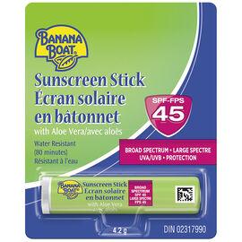 Banana Boat Sunscreen Stick Aloe Lip Balm - SPF45 - 4.2g