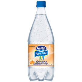Nestle Sparkling Carbonated Natural Spring Water - Mandarin - 1L