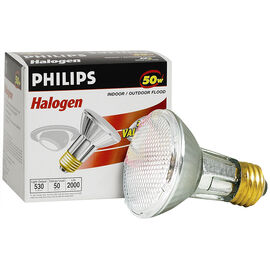 Philips 50W Par20 Halogen Light Bulb - Flood - 2 pack