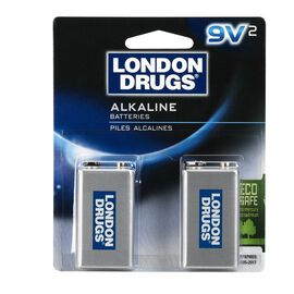 London Drugs 9V Alkaline Batteries - 2 pack