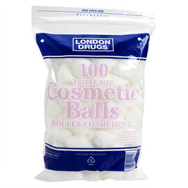 London Drugs Triple Size Cosmetic Balls - 100 pack
