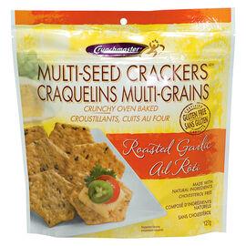 Crunchmaster Multi-Seed Crackers - Roasted Garlic - 127g