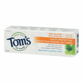 Tom's of Maine Natural Anti-Cavity Toothpaste - with Fluoride - Spearmint - 85ml
