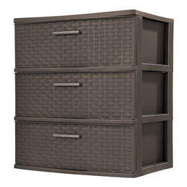 Sterilite Wide Tower - Espresso - 3 Drawer