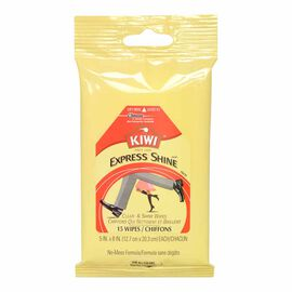 Kiwi Express Clean & Shine Wipes - 15's
