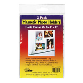 Pioneer Magnetic 4x6in Photo Holder - 2pack - 4x6in