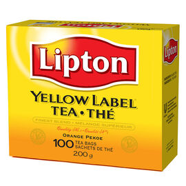 Lipton Yellow Label Tea - Orange Pekoe - 100 Tea Bags