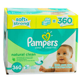 Pampers Natural Wipes - Unscented - 360's