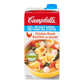 Campbell's Chicken Broth - No Salt Added - 900ml