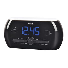 RCA Soft Light Clock Radio - Black - RC220