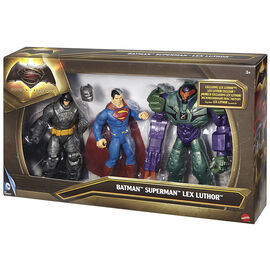 Batman v Superman Action Figures - Batman, Superman and Lex Luthor