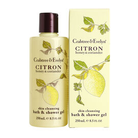 Crabtree & Evelyn Citron, Honey & Coriander Skin Cleansing Bath and Shower Gel - 250ml